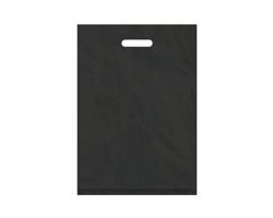 Igelitová PE taška černá - 350x500mm, pevný průhmat a složené dno