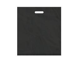 Igelitová PE taška černá - 450x500mm, pevný průhmat a složené dno