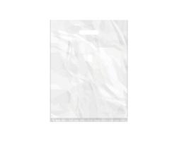 Igelitová PE taška bílá - 350x460mm, pevný průhmat a složené dno