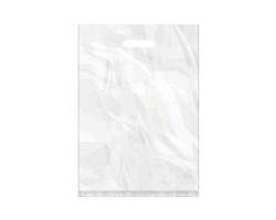 Igelitová PE taška bílá - 350x500mm, pevný průhmat a složené dno