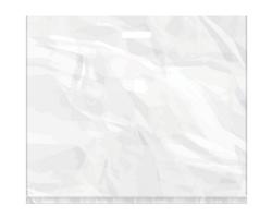 Igelitová PE taška bílá - 650x550mm, pevný průhmat a složené dno