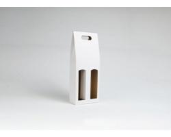 Papírová krabice na 2 lahve vína ALTO - 17 x 40 x 8 cm - bílá