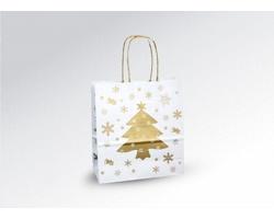Vánoční papírová a dárková taška CHRISTMAS - 18 x 20 x 8 cm