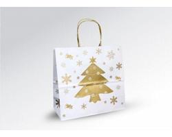 Vánoční papírová a dárková taška CHRISTMAS - 25 x 24 x 11 cm