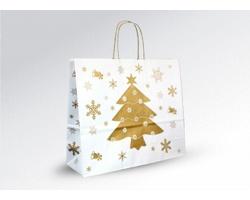Vánoční papírová a dárková taška CHRISTMAS - 36 x 31 x 12 cm