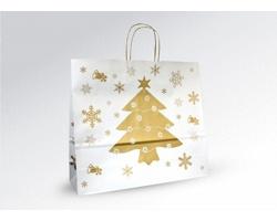 Vánoční papírová a dárková taška CHRISTMAS - 43 x 37 x 13 cm