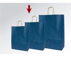 Papírová taška ECO BLUE - 23 x 32 x 10 cm