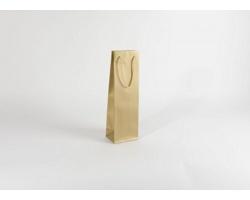 Papírová taška na víno GLASS GOLD - 12 x 40 x 9 cm