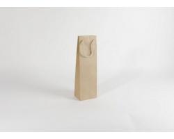 Papírová taška na víno GLASS NATURA - 12 x 40 x 9 cm