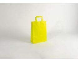 Papírová taška HAPPY YELLOW / GREEN - 23 x 32 x 10 cm