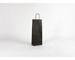Papírová taška na víno LONGER BLACK - 15 x 40 x 8 cm