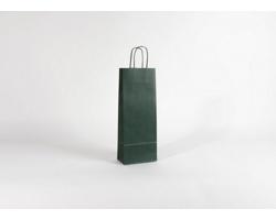 Papírová taška na víno LONGER GREEN - 15 x 40 x 8 cm