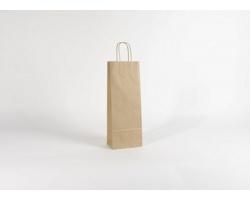 Papírová taška na víno LONGER NATURAL - 15 x 40 x 8 cm
