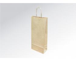 Papírová taška na víno LONGER NATURAL - 18 x 40 x 8 cm