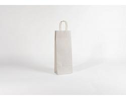 Papírová taška na víno LONGER WHITE - 15 x 40 x 8 cm