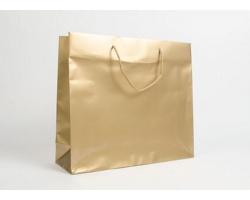 Papírová taška LUX QUADRA - 42 x 37 x 13 cm - zlatá