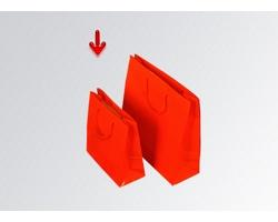 Papírová taška M2 RED - 38 x 31 x 13 cm