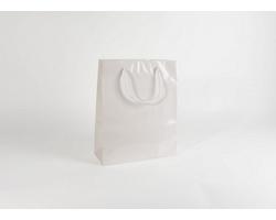 Papírová taška M2 WHITE - 32 x 40 x 13 cm