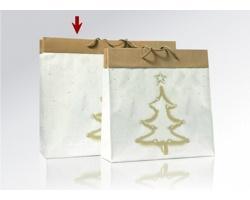 Vánoční papírová taška na víno MAGIA - 40 x 40 x 14,5 cm
