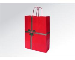 Vánoční papírová taška na víno NATALE - 26 x 41,5 x 11 cm