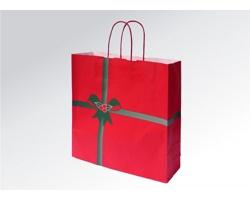 Vánoční papírová taška na víno NATALE - 36 x 41 x 12 cm