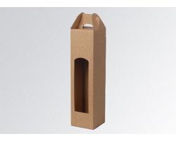 Papírová krabice na 1 lahev vína WINEBOX NATURA - 8 x 34,5 x 8 cm