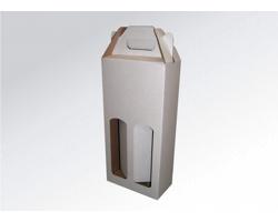 Papírová krabice na 2 lahve vína WINEBOX WHITE - 16,5 x 34,5 x 8 cm