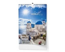 Nástěnný kalendář Beautiful world 2018