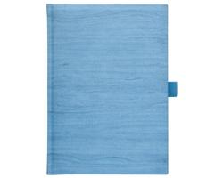 Poznámkový notes čtverečkovaný Wood, A5 - modrá