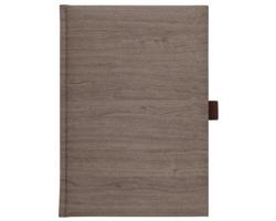 Poznámkový notes čtverečkovaný Wood, A5 - hnědá