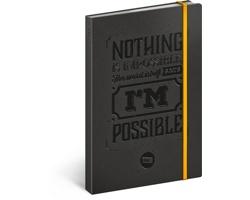Poznámkový notes linkovaný Motivační 2018, 13x21
