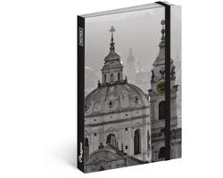 Poznámkový notes čistý Praha 2018, 13x21