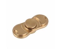 Reklamní kovový Fidget Spinner DUO SOLID s gravírováním - barva GOLD