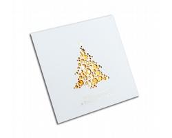 Otevírací novoročenka GL701 - bílá / zlatá
