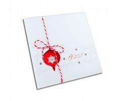 Otevírací novoročenka GL719 - bílá / červená / červená