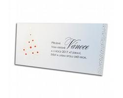 Novoroční PF karta GL736 - bílá / zlatá / červená