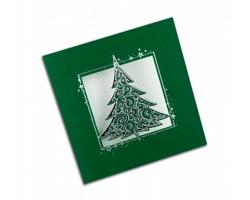 Otevírací novoročenka GL742 - zelená / stříbrná