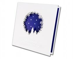 Otevírací novoročenka GL828 - bílá / modrá / stříbrná