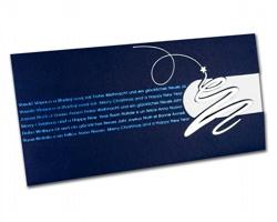 Vysouvací novoročenka GL832 - modrá / bílá / stříbrná