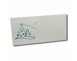 Novoroční PF karta ST616 - šedá / stříbrná / modrá
