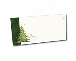Novoroční PF karta ST631 - bílá / zelená / zlatá