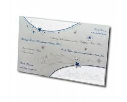 Vysouvací novoročenka ST637 - stříbrná / bílá / modrá