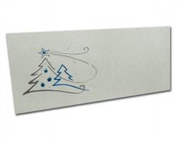 Novoroční PF karta PF804 - stříbrná / modrá