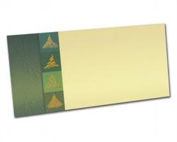 Novoroční PF karta PF839 - zlatá / zelená