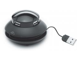 USB rozdělovač HALE - černá