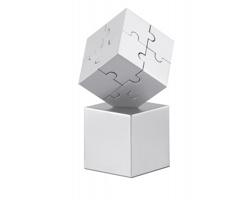 Kovové 3D puzzle SETH s těžítkem - matně stříbrná