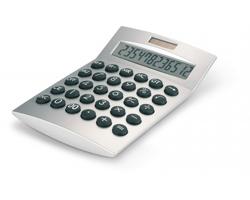 Plastová solární kalkulačka TEND, 12 místná - matně stříbrná