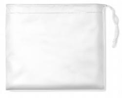 Skládací pláštěnka HEMP v pouzdře - bílá