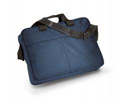 Polyesterová aktovka LUCAS na rameno - modrá