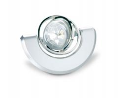 Stolní hodiny COOED s fotorámečkem - matně stříbrná